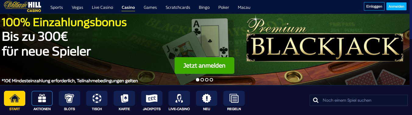 William Hill Casino Blackjack