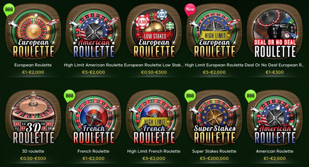 888casino-roulettevarianten
