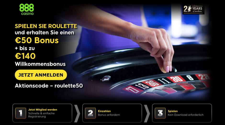 888 Casino Neukundenbonus