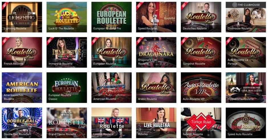 Casino Club Roulette Varianten