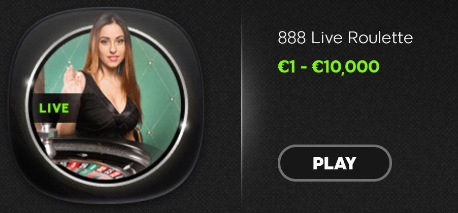 888 casino limits