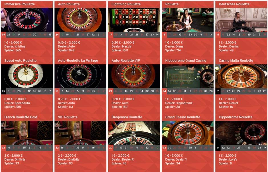 Wunderino Live Roulette