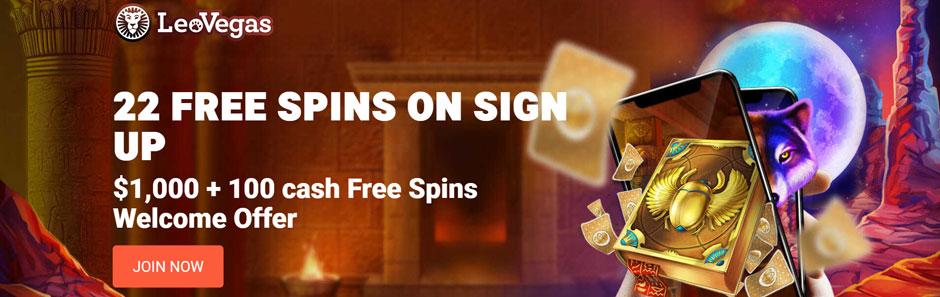 Leo Vegas Casino Canada Bonus