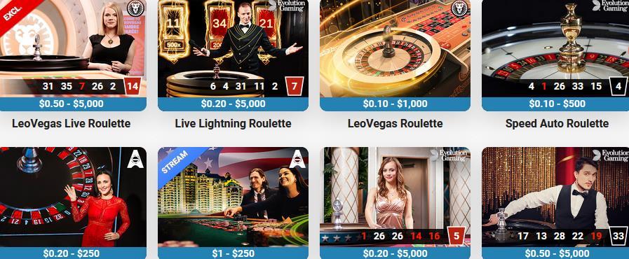 LeoVegas Live Roulette Canada