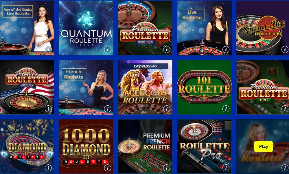 William Hill Roulette Games
