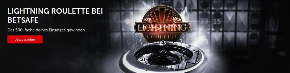 betsafe Lightning Roulette Banner