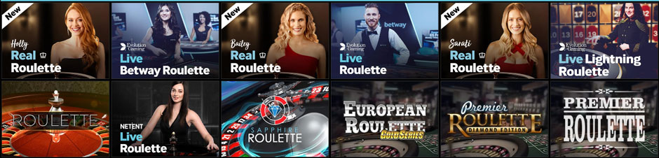 betway live roulette