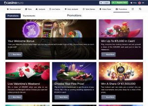 CasinoEuro promotions and bonus