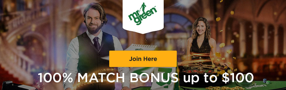 Mr Green bonus banner