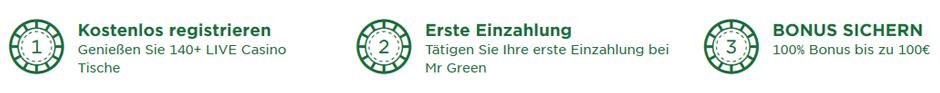 Mr Green Live Casino Bonus Banner