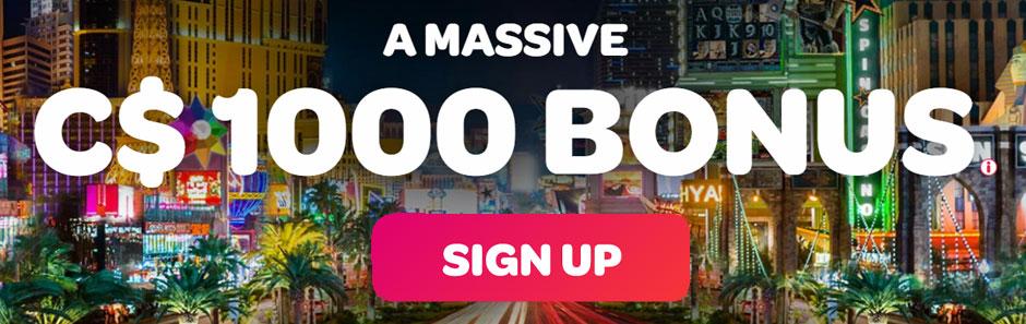 Spin Casino bonus banner