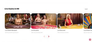 Spin Casino live games