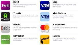 Spincasino payment methods