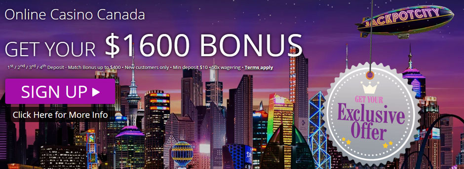 JackpotCity Casino Canada bonus