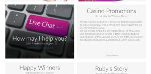 Ruby Fortune Canada preview live chat