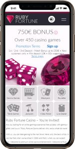 Ruby Fortune mobile casino