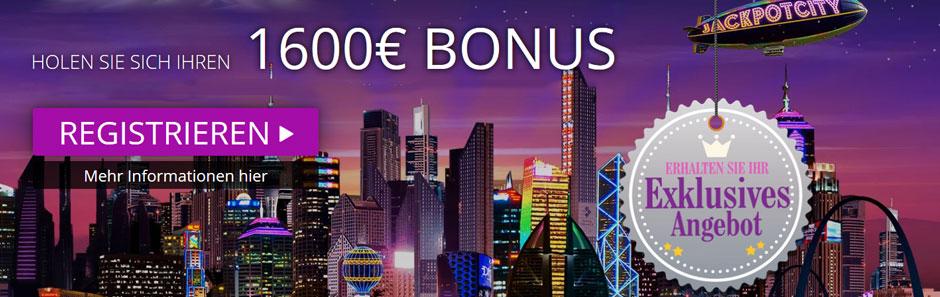 Jackpot City Casino Bonus Banner