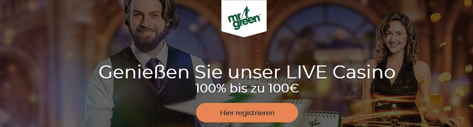 Mr Green Live Bonus Banner